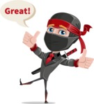 Daikoku the Businessman Ninja - Thumbs Up