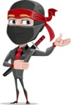 Business Ninja Cartoon Vector Character AKA Daikoku - Showcase 2