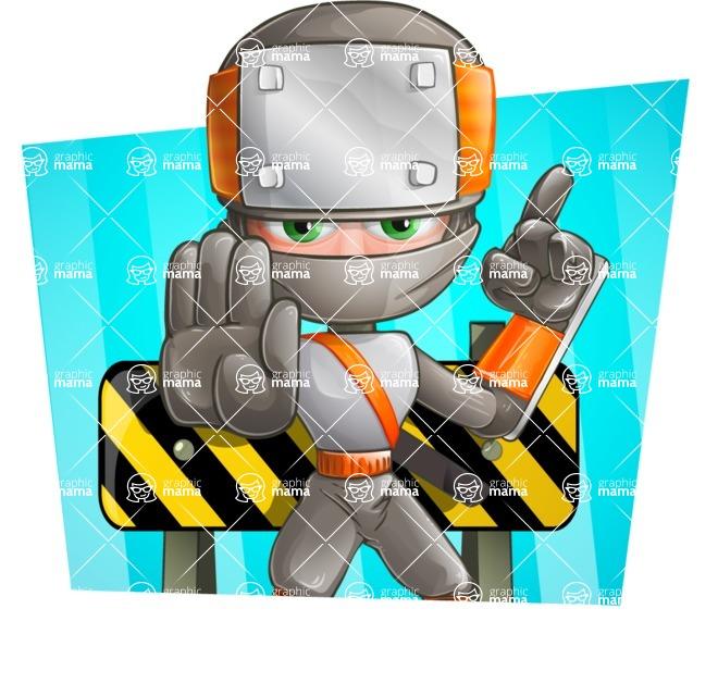 Japanese Ninja Cartoon Vector Character AKA Takeshi - Shape 4