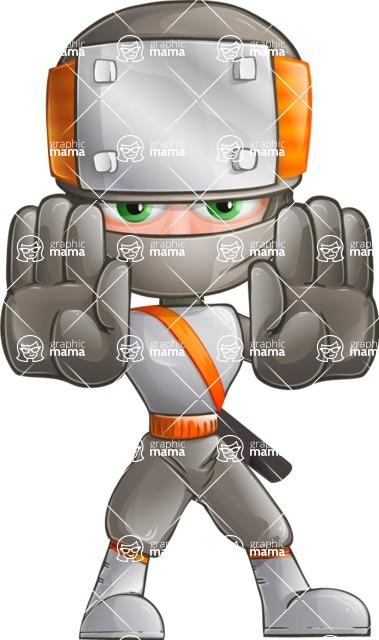 Japanese Ninja Cartoon Vector Character AKA Takeshi - Stop 1