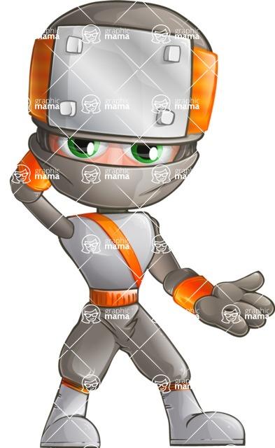 Japanese Ninja Cartoon Vector Character AKA Takeshi - Oops