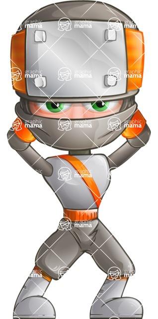 Japanese Ninja Cartoon Vector Character AKA Takeshi - Patient