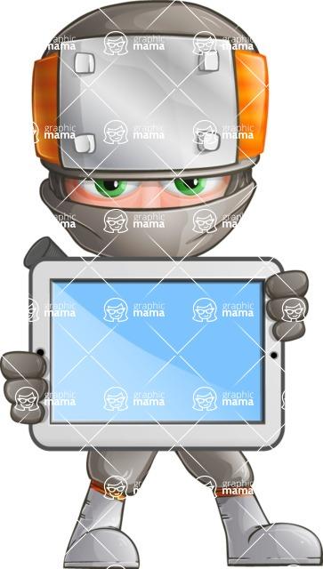 Japanese Ninja Cartoon Vector Character AKA Takeshi - Tablet 1