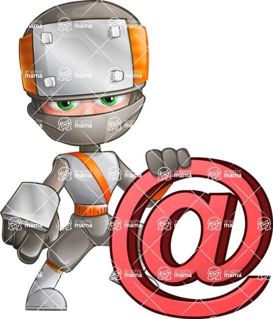 Japanese Ninja Cartoon Vector Character AKA Takeshi - Web