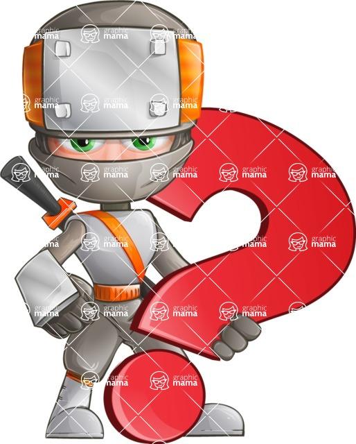 Japanese Ninja Cartoon Vector Character AKA Takeshi - Question