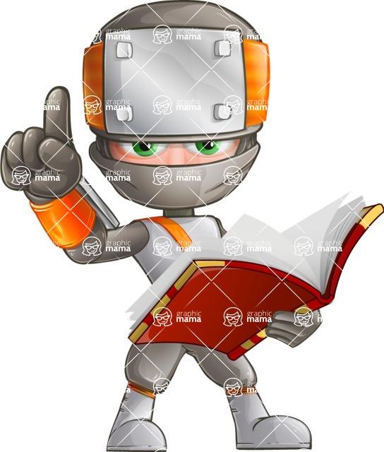 Japanese Ninja Cartoon Vector Character AKA Takeshi - Book