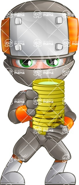 Japanese Ninja Cartoon Vector Character AKA Takeshi - Tea