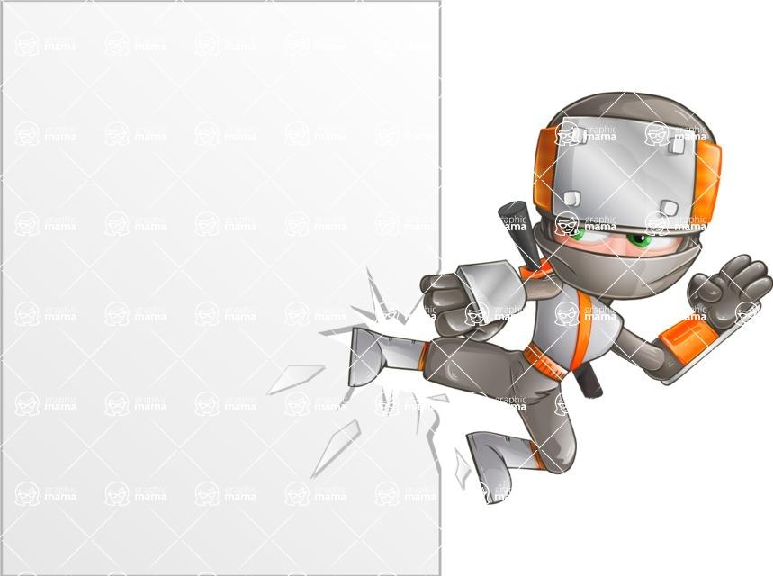 Japanese Ninja Cartoon Vector Character AKA Takeshi - Presentation 4