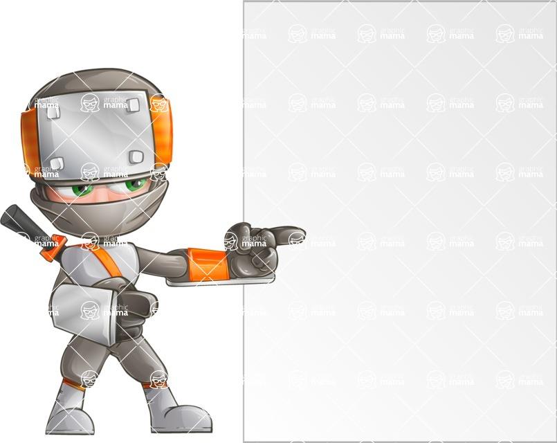 Japanese Ninja Cartoon Vector Character AKA Takeshi - Presentation 5