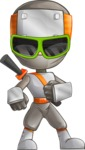 Japanese Ninja Cartoon Vector Character AKA Takeshi - Sunglasses 2