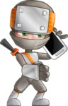 Japanese Ninja Cartoon Vector Character AKA Takeshi - Smartphone 2