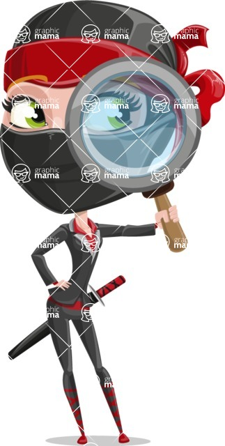 Ninja Woman Cartoon Vector Character AKA Aina - Search
