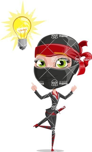 Ninja Woman Cartoon Vector Character AKA Aina - Idea