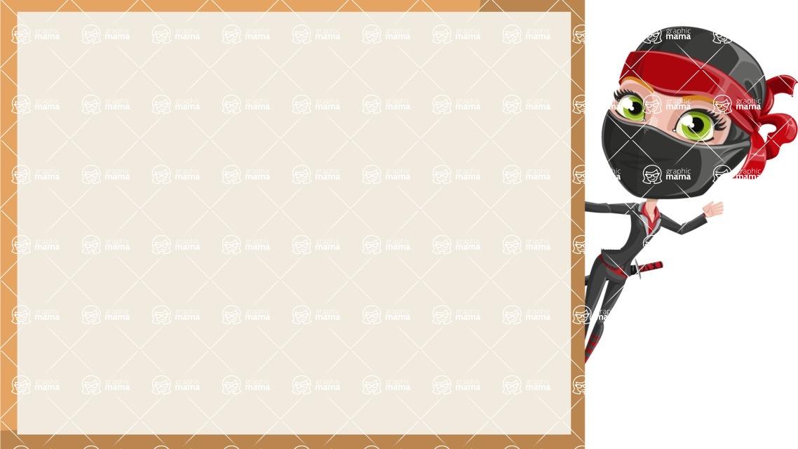 Ninja Woman Cartoon Vector Character AKA Aina - Presentation 4