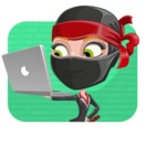 Ninja Woman Cartoon Vector Character AKA Aina - Shape 2