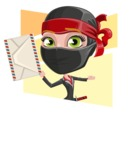 Ninja Woman Cartoon Vector Character AKA Aina - Shape 4