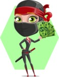Ninja Woman Cartoon Vector Character AKA Aina - Shape 6