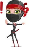 Ninja Woman Cartoon Vector Character AKA Aina - Direct Attention 1