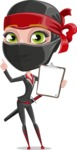 Ninja Woman Cartoon Vector Character AKA Aina - Note 3
