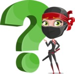 Ninja Woman Cartoon Vector Character AKA Aina - Question
