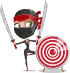 Ninja Woman Cartoon Vector Character AKA Aina - Target