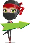 Ninja Woman Cartoon Vector Character AKA Aina - Pointer 1