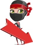 Ninja Woman Cartoon Vector Character AKA Aina - Pointer 2