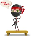 Ninja Woman Cartoon Vector Character AKA Aina - Talking