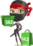 Ninja Woman Cartoon Vector Character AKA Aina - Sale 2