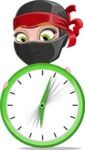 Ninja Woman Cartoon Vector Character AKA Aina - Time is running out