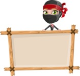 Ninja Woman Cartoon Vector Character AKA Aina - Presentation 3