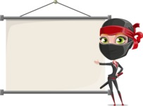 Ninja Woman Cartoon Vector Character AKA Aina - Presentation 6