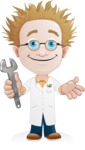 Simple Professor Cartoon Vector Character AKA Professor Smartenstein - Under Construction