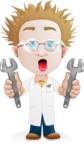 Simple Professor Cartoon Vector Character AKA Professor Smartenstein - Under Construction2