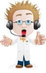 Simple Professor Cartoon Vector Character AKA Professor Smartenstein - Support2