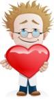 Simple Professor Cartoon Vector Character AKA Professor Smartenstein - Love