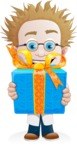 Simple Professor Cartoon Vector Character AKA Professor Smartenstein - Gift