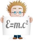 Simple Professor Cartoon Vector Character AKA Professor Smartenstein - Sign1