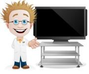 Simple Professor Cartoon Vector Character AKA Professor Smartenstein - Presentation2