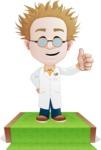 Simple Professor Cartoon Vector Character AKA Professor Smartenstein - Presentation5