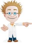 Simple Professor Cartoon Vector Character AKA Professor Smartenstein - Point