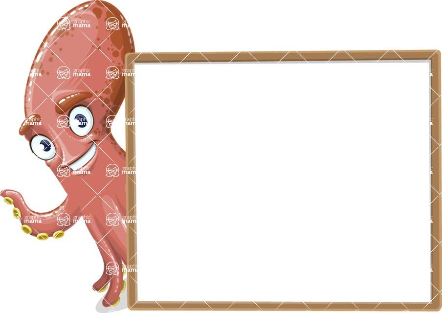 Octopus Cartoon Vector Character AKA BrainDon - Presentation 5