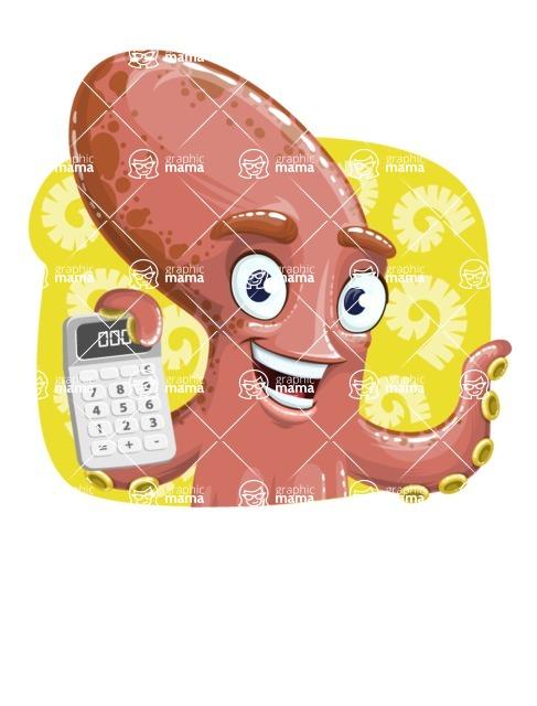 Octopus Cartoon Vector Character AKA BrainDon - Shape 4