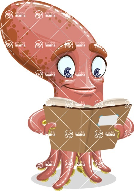 Octopus Cartoon Vector Character AKA BrainDon - Book 1