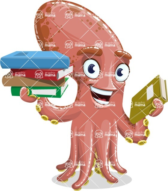 Octopus Cartoon Vector Character AKA BrainDon - Book 2
