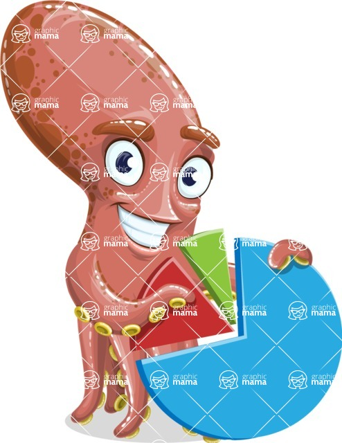 Octopus Cartoon Vector Character AKA BrainDon - Chart