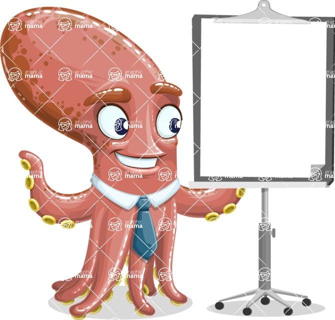 Octopus Cartoon Vector Character AKA BrainDon - Presentation 1