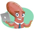 Octopus Cartoon Vector Character AKA BrainDon - Shape 3