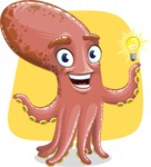 Octopus Cartoon Vector Character AKA BrainDon - Shape 6