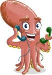 Octopus Cartoon Vector Character AKA BrainDon - Support